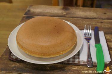 6月限定★直径18cmで分厚い4.7cmの巨大なパンケーキはカスタードクリーム入り♪絵本カフェholoholoホロホロ(大阪/難波)