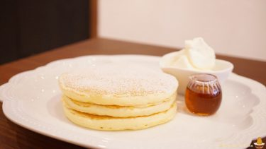 JR茨木駅の近くパンケーキ専門店で絶品プレーンと11月限定の焼き芋のパンケーキ★カフェ・レードル(大阪/茨木)