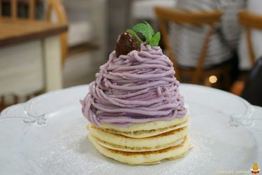 紫芋モンブランパンケーキ(Angieアンジー神戸)期間限定