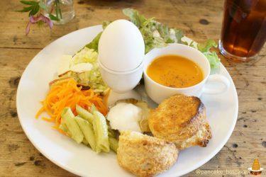 隠れ家カフェでスコーンと美味しい野菜、スープ、ゆで卵のモーニング♪caféLicht(カフェ・リヒト)(神戸/花隈)