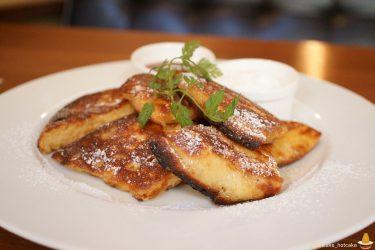 ちょいフワ、サクサク、カリカリでバター&メープルが生地からジュワ~な絶品ユニークなパンケーキ♪cafeMaru(カフェ・マル)奈良/近鉄奈良