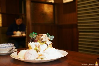 クリスマスパンケーキ秋葉原フライングスコッツマンで♪12月25日まで ボリュームたっぷり!(東京/末広町)