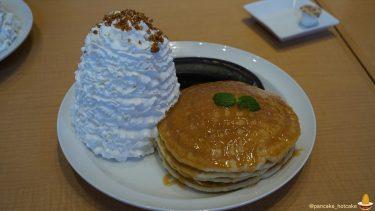 秋限定!自家製の生キャラメルソースのキャラメルハニーパンケーキと真っ黒なバナナ!?エッグスンシングスUSJ前(大阪/ユニバーサルシティ)