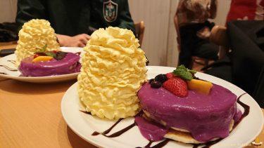 2017年も紫芋ソースのハロウィンパンケーキ♪そしてサプライズな仕掛けも!!!エッグスンシングスUSJ(大阪/ユニバーサルシティ)