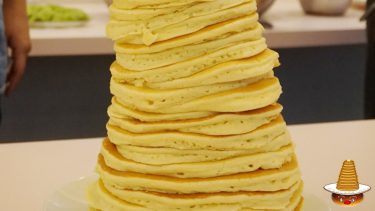 【特別編】クリスマスのパホケ会26★58cm56枚の過去最高のパンケーキタワー♪デニーロ(神戸/三宮)