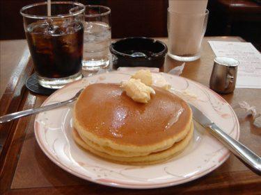 王道のホットケーキ★なかおか珈琲★中之島店(大阪/西天満)