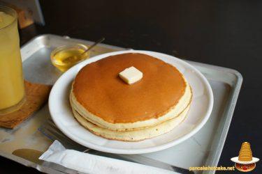 雨林舎のホットケーキ2枚は蜂蜜で♪そしてプリン~町屋カフェ(京都/二条)