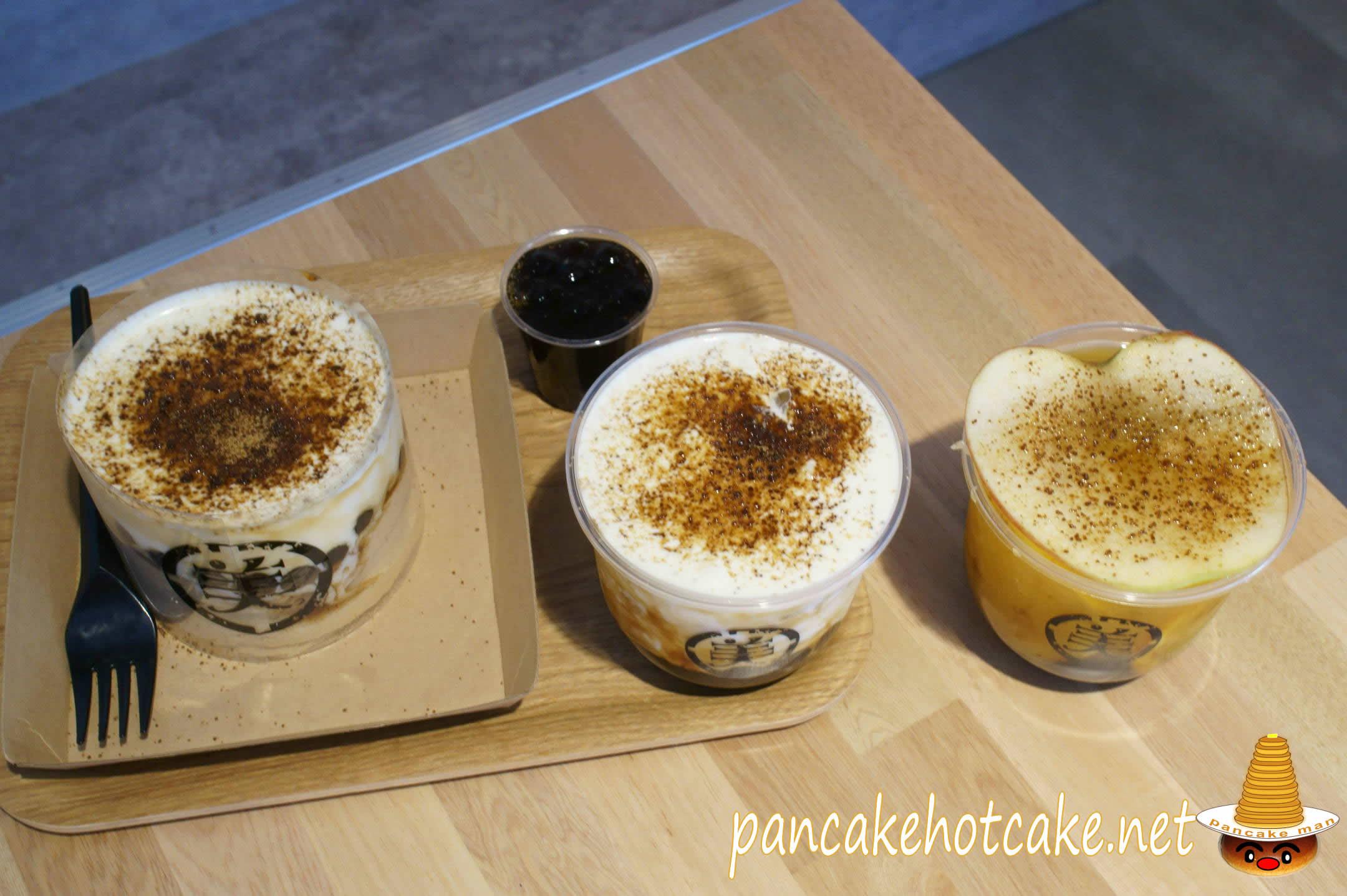 黒糖タピオカクリームチーズミルク、タピオカ入りフルーツティ
