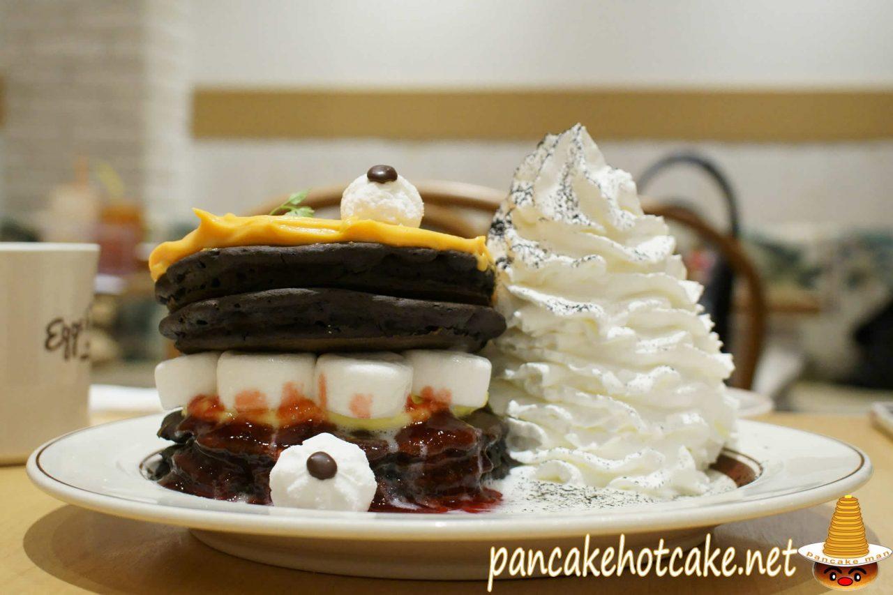 パンプキンモンスターパンケーキ ¥1,380円 エッグスンシングス2019年10月ハロウィン