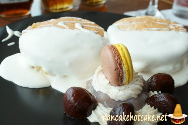ホテルニューオータニ特製 パンケーキ (マロン) サツキでは無く24Fベイコートカフェ(千葉/海浜幕張)
