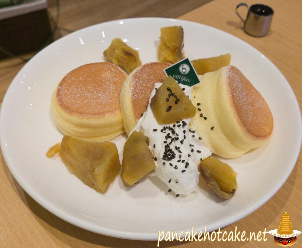 食べた物:安納芋のふわふわパンケーキ ¥1280円(税別)