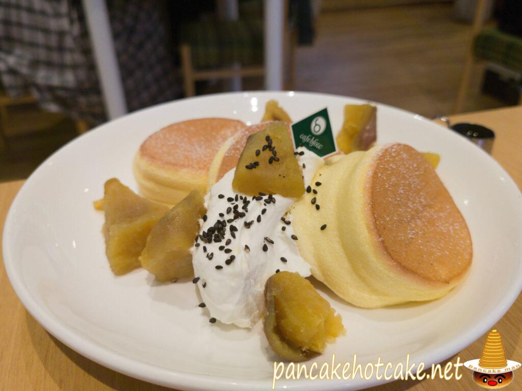 安納芋のふわふわパンケーキ ¥1280円(税別)カフェ ブロウ(cafe blow)大阪