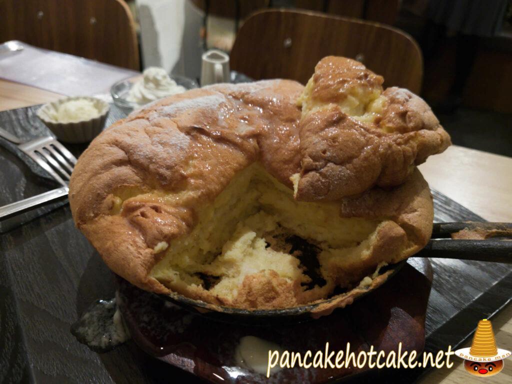 食べた物:台湾カステラパンケーキ カルピスバターのせ 米米(ファンファン)梅田