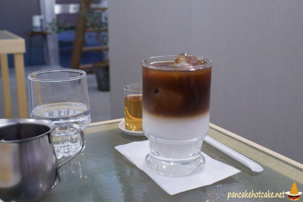 喫茶 月森のカフェオレ アイス♪(大阪、空堀商店街)