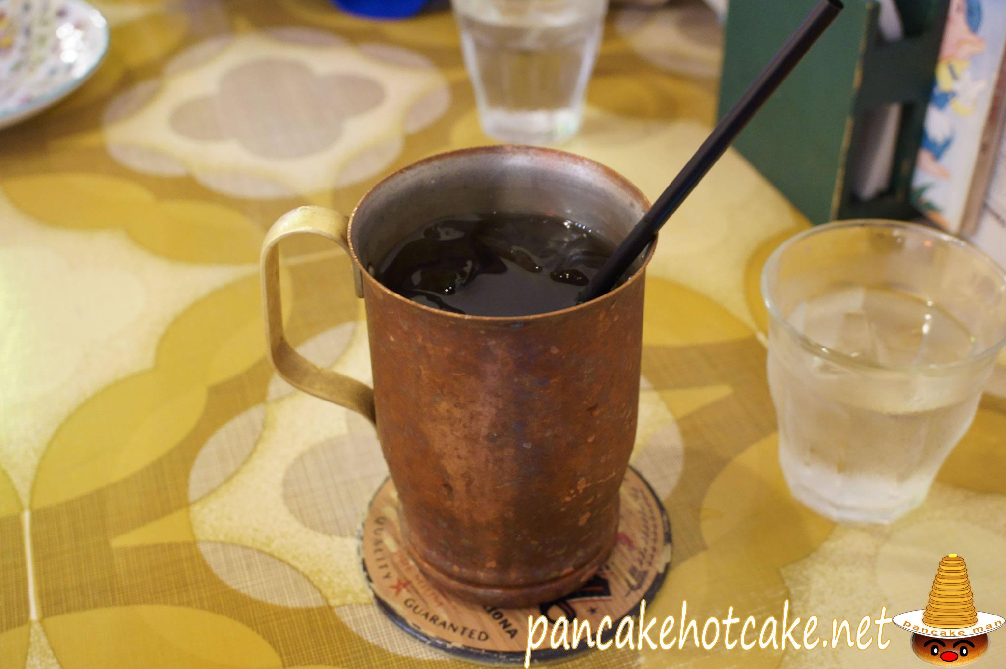 プリンのお供にアイスコーヒーのブラック♪カフェ トキオナ(大阪、南森町、大阪天満宮)