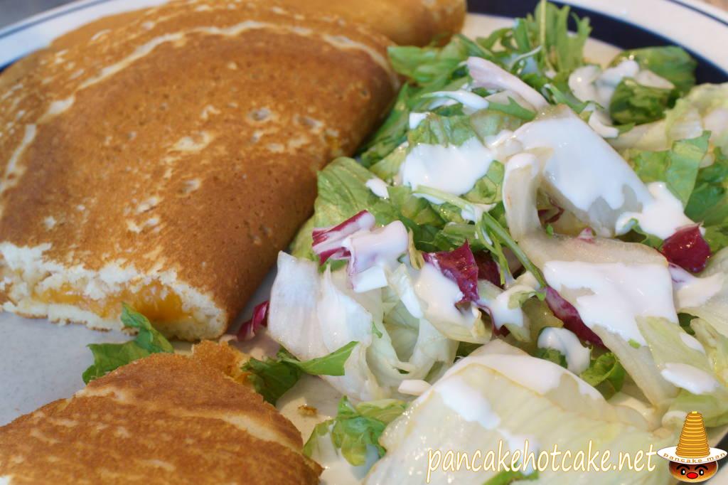 朝限定 エッグスンパンドイッチ(ロースハム)&ドリンク(Eggs'n Pancake Sandwich)エッグスンシングス梅田茶屋町店