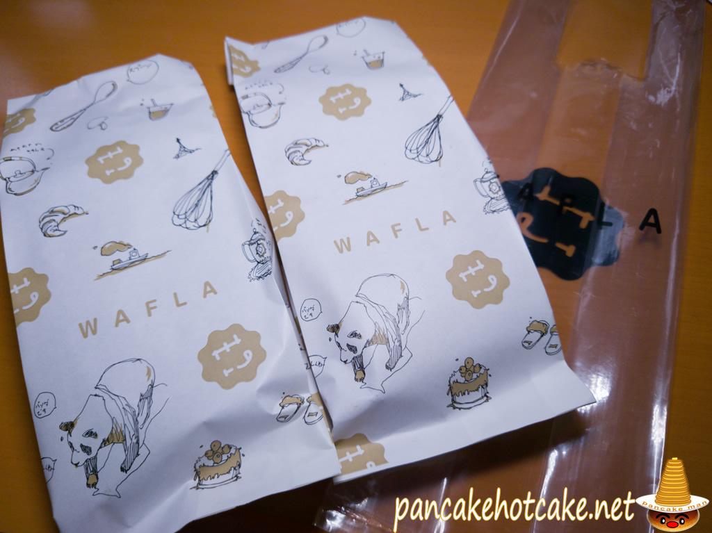 芦屋の独特な食感の美味しいワッフル『wafla(ワッフラ)』可愛い袋