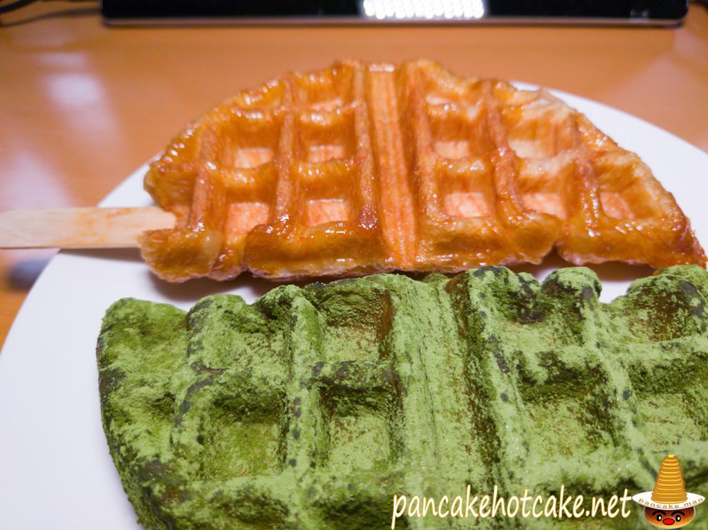 食べた物:クロッフル 抹茶きなこ(ワッフラのワッフル)wafla 阪急 芦屋川駅スイーツ
