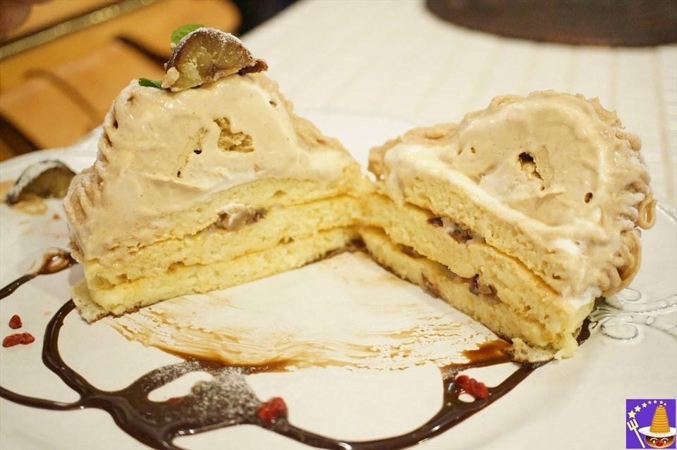 【期間限定】モンブランパンケーキ登場♪2017年はマロンクリームの超絶品パンケーキ♪11月1日~年内?Angie(アンジー)神戸/南京町 パンケーキマン