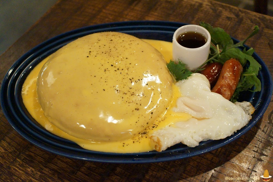 激ウマのjuenのパンケーキにチーズバージョンが登場♪マカロニ×チーズ×チーズは激ウマだった!ジュエン(大阪/天神橋六丁目)パンケーキマン