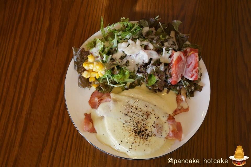 ベーコンチーズのパンケーキ カフェ・ブロウcafe blow大阪/日根野