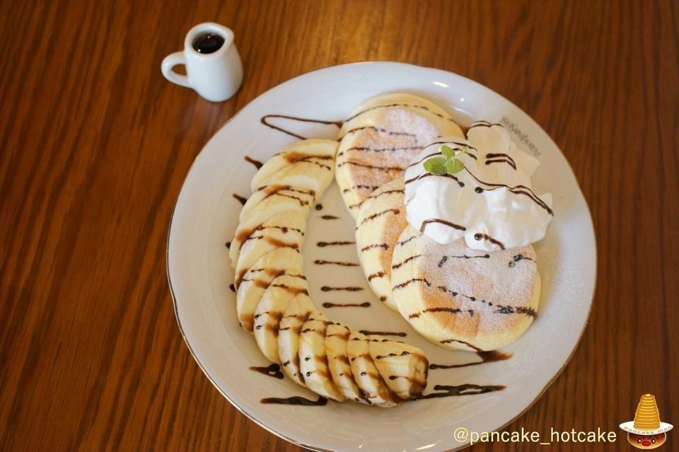 バナナチョコ パンケーキ カフェ・ブロウcafe blow大阪/日根野