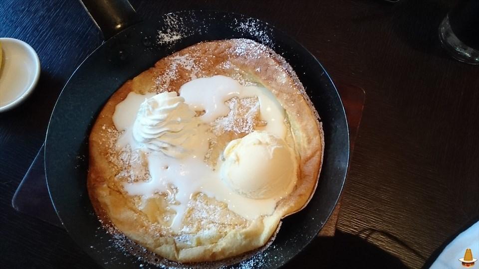 大阪でも王道なダッチベイビー(パンケーキ)を食べられるぞ!サウスパラダイスカフェ(大阪/本町)パンケーキマン