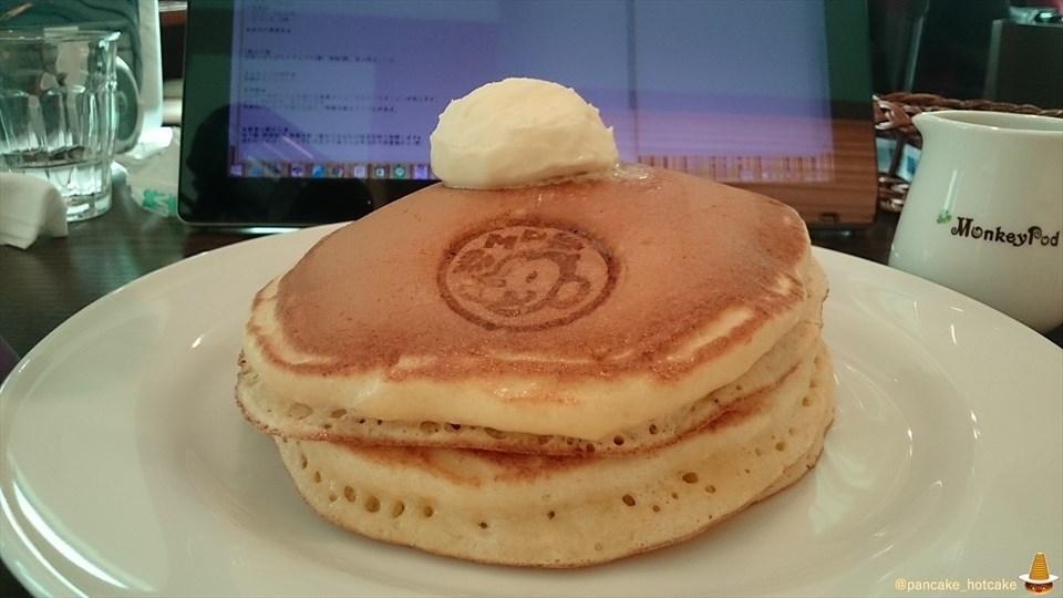 ふわふわシットリでチョイもちなパンケーキ♪モンキーポッド Monkey Pod(大阪/我孫子)パンケーキマン