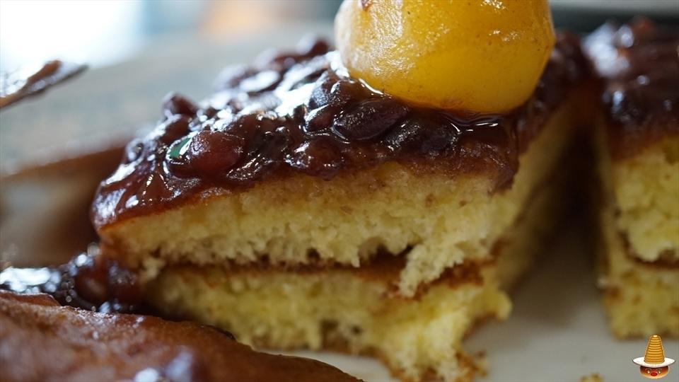 三愛のイチゴのホットケーキと栗ぜんざいのホットケーキ(愛知/豊橋)パンケーキマン