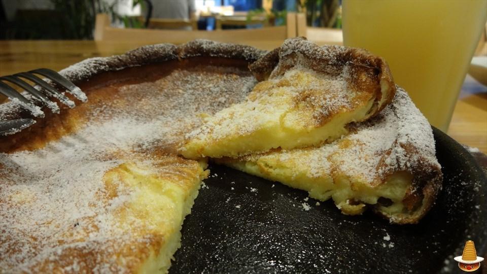 ダッチベベイビー:アイスクリーム&メープルシロップ 森のカフェ(近鉄奈良) パンケーキマン