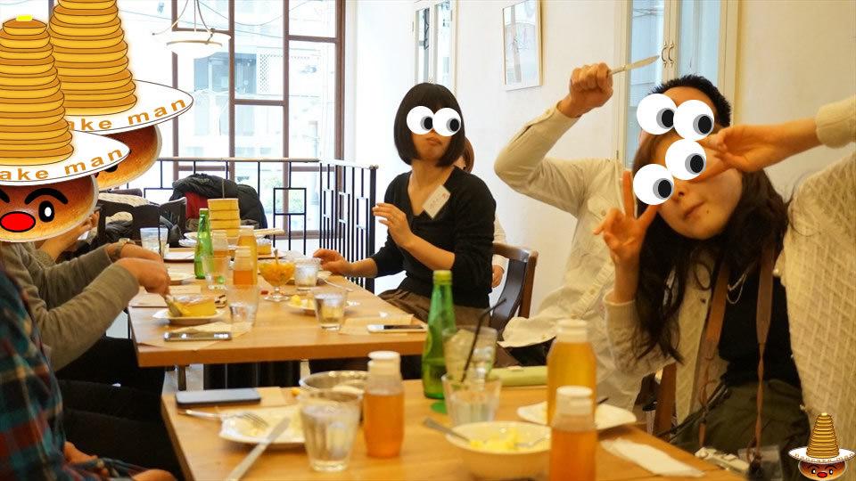 【特別編】パホケ会27<速報01>厚焼きパンケーキタワー登場♪うまうまパンケーキ!元町1丁目カフェ(大阪/なんば)パンケーキマン