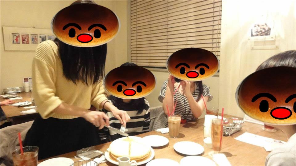 大きなレギュラー パンケーキ accueilアクイーユ(東京/恵比寿)パホケ会7