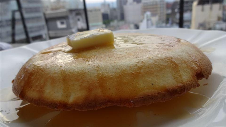 9階からの素敵な展望とプレーンパンケーキ Sunny(サニー)(京都/三条)