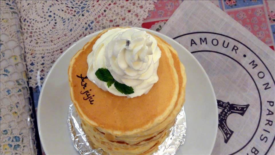 パホケ会12 アンジュジュメールとタブレスカフェのパンケーキ