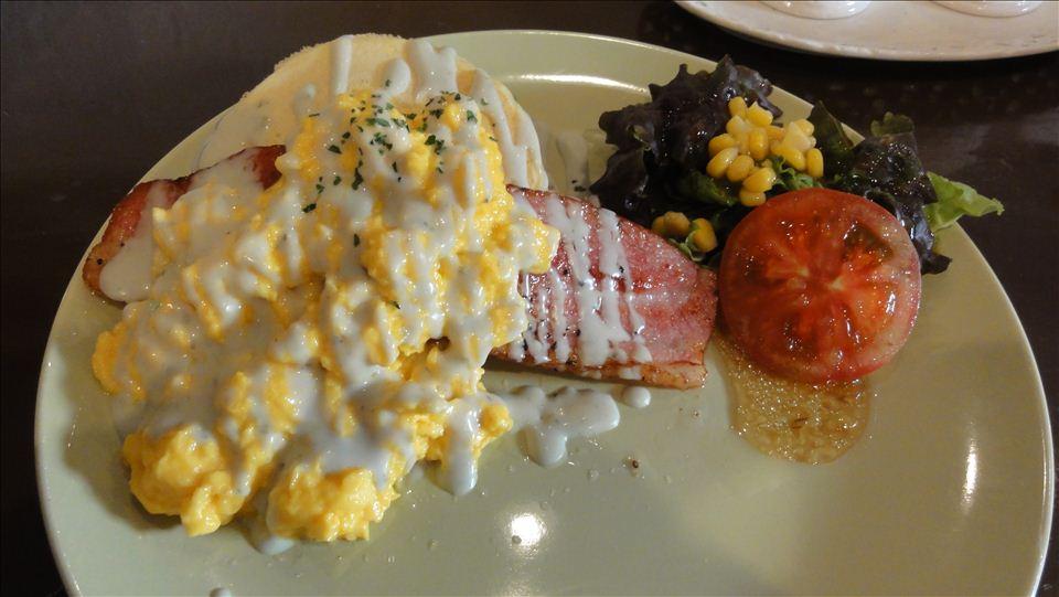 豆乳おからのSOISOIパンケーキ ベーコン&エッグパンケーキ ソイソイ(大阪/長瀬)