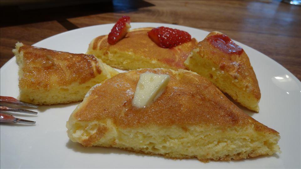 リコッタチーズのナチュラルパンケーキ GREENnorthCAFE(グリーンノースカフェ)(大阪/箕面)